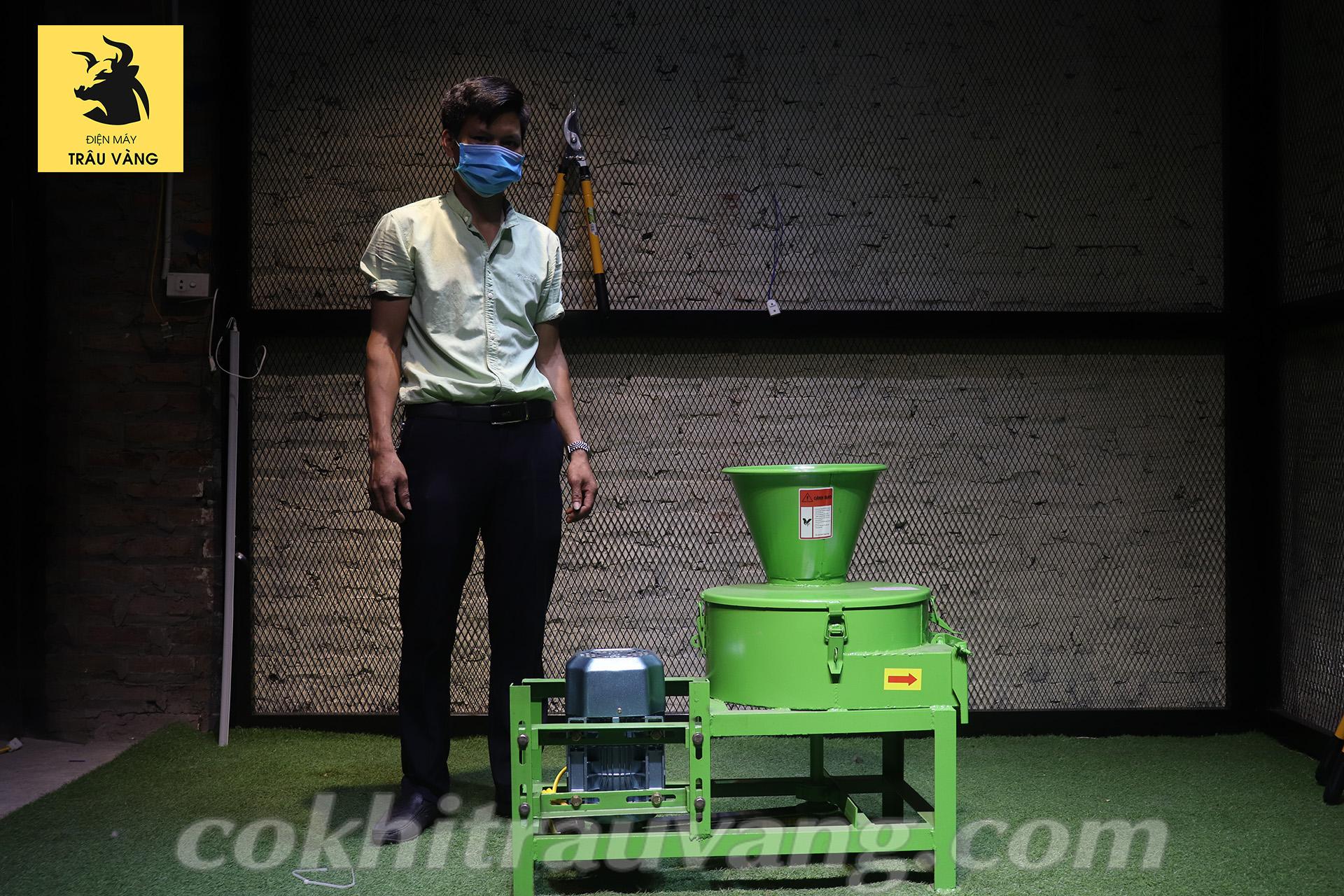 máy băm cỏ - máy thái chuối đa năng